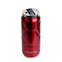 Термобанка термос бутылка  для воды Kamille Красный из нержавеющей стали 500мл KM-2208, фото 2