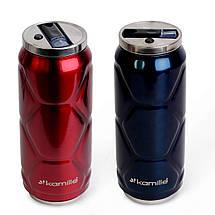 Термобанка термос бутылка  для воды Kamille Красный из нержавеющей стали 500мл KM-2208, фото 3