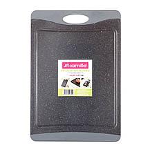 Доска разделочная Kamille 43х29,7х0,9cm пластиковая (серый мрамор) KM-10072