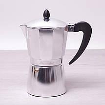 Кофеварка гейзерная Kamille 450мл из алюминия KM-2505, фото 2