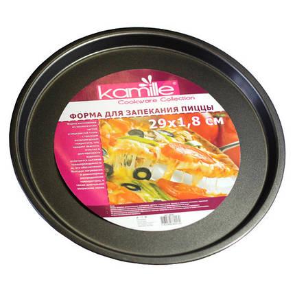 Форма для запекания пиццы Kamille Ø29*2см KM-6016, фото 2