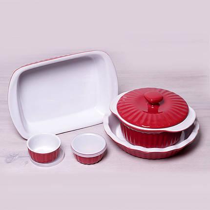 Набор керамической посуды Kamille для запекания 8 предметов KM-6106, фото 2