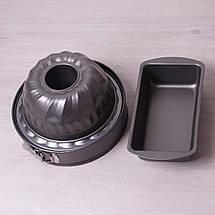 Набор форм для выпечки Kamille 3шт (круглая разъемная 26см; для кекса 22см; прямоугольная 28*15см) KM-6030, фото 3