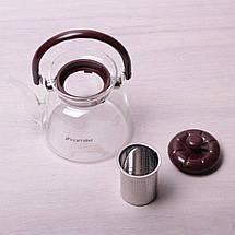 Заварник Kamille 1000мл со съемным ситечком и бакелитовой ручкой KM-1609, фото 2