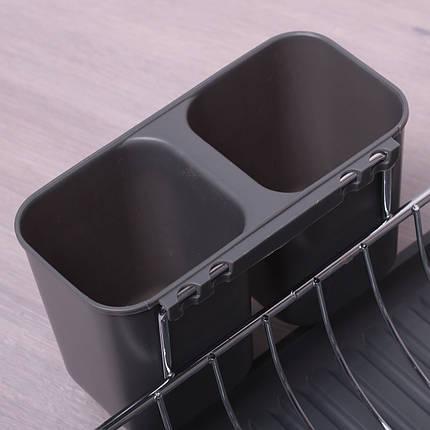 Сушилка для посуды Kamille 52х32х13см с поддоном KM-0761B, фото 2