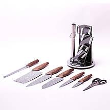 Набор кухонных ножей Kamille и ножницы на акриловой подставке 8 предметов KM-5149, фото 2