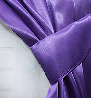 Однотонная ткань атлас. Ширина в рулоне 1,5м. Цвет фиолетовый. 30ша