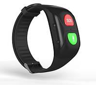 Фитнес браслет с GPS-трекером для пожилых людей Smart Band C1 с кнопкой SOS и Тонометром Черный КОД: SBS1TBK