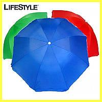 Пляжный зонт с наклоном 2 м Anti-UF / Зонтик пляжный 2 метра / Наклон