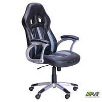 Компьютерное кресло Rider для руководителя кожзам с подлокотниками черное ТМ AMF 513314