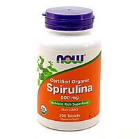 Спирулина 500мг, Now Foods, 200 таблеток