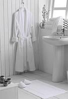 Махровый халат, 100% хлопок, 400гр/м2, Туркменистан, белый XXL