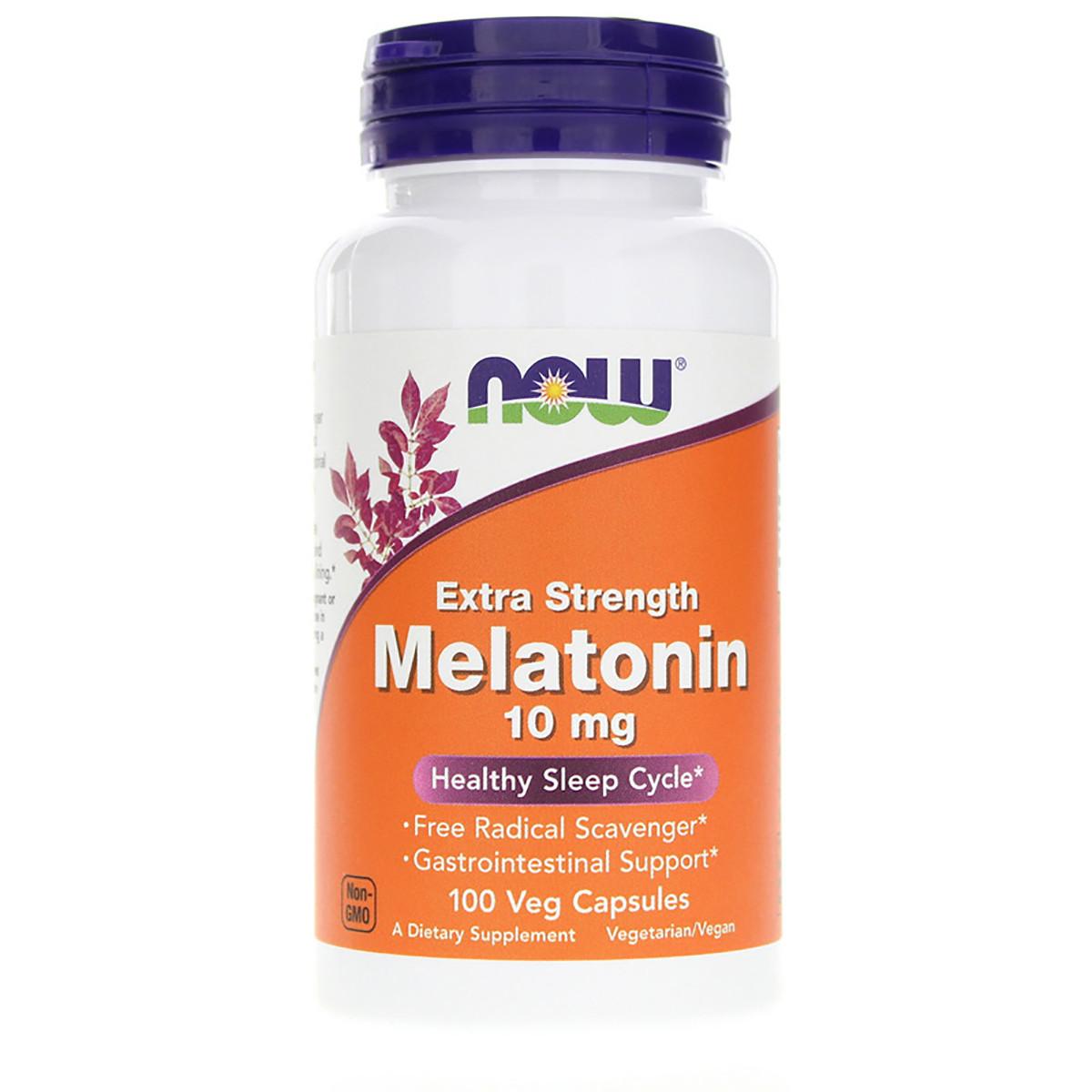Мелатонин, Extra Strength Melatonin, Now Foods, 10 мг, 100 капсул
