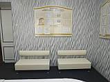 Диван BNB Solo 1200x540x750 белый. Для школы, больницы, приемной, ожидания, фото 5