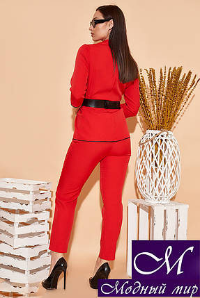 Женский красный костюм брюки + пиджак батал (р. 48, 50, 52, 54) арт. 34-499, фото 2