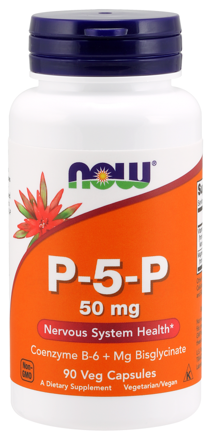 P-5-P (пиридоксальфосфат) 50мг, Now Foods, 90 гелевых капсул