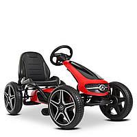 Детский карт педальный Mercedes-Benz M 4271E-3  велокарт веломобиль с педалями картинг колеса EVA красный