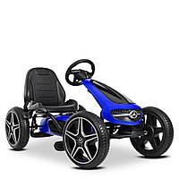 Детский  педальный карт Mercedes-Benz M 4271E-4  велокарт веломобиль с педалями картинг колеса EVA синий