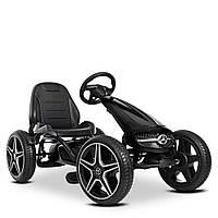 Детский карт педальный Mercedes-Benz M 4271E-2  велокарт веломобиль с педалями картинг колеса EVA черный