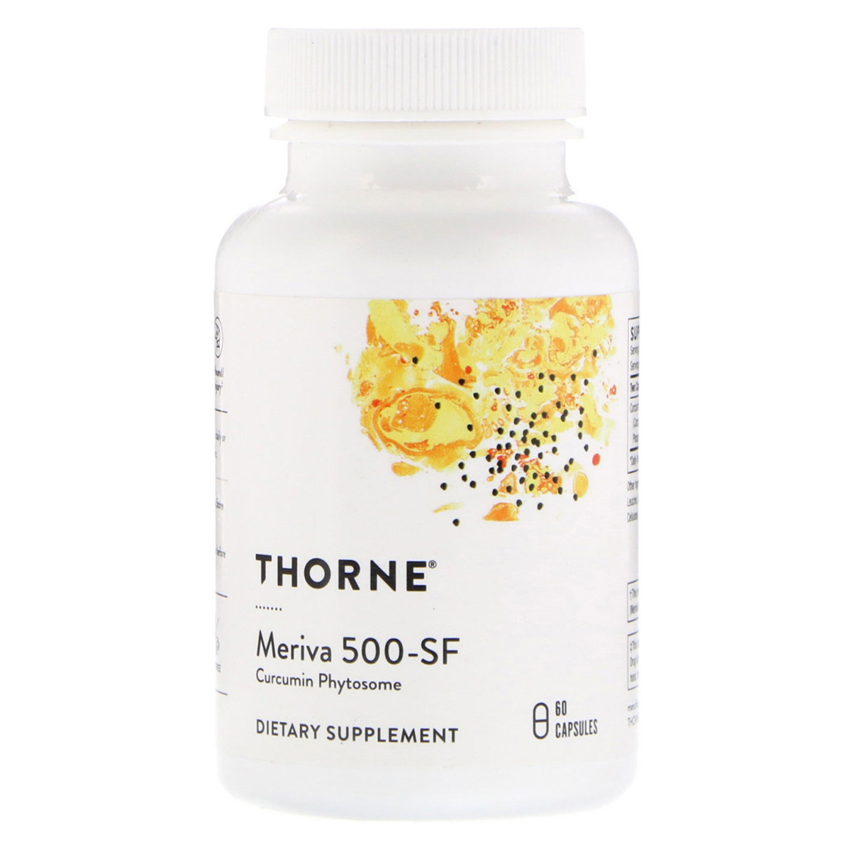 Фитосомы Куркумина 500-SF, Curcumin Phytosome Meriva, Thorne Research, 60 гелевых капсул