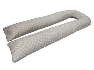 Подушка для беременных KIDIGO U образная Горошек (с наволочкой)