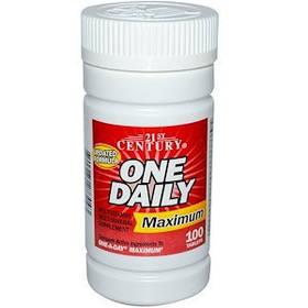 Комплекс мультивитаминов и минералов максимального действия 21st Century One Daily 100 таблеток