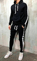 Спортивный костюм мужской весенний осенний летний | демисезонный Кофта + Штаны c лампасами АСОС черно-белый