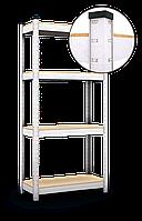 150х70х30, Стеллаж 4 полок ДВП, 100 кг/полка, В-107 полочный оцинкованный на склад балкон подвал БЕЗ УСИЛЕНИЯ
