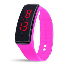 Электронные наручные часы LTL Led на силиконовом браслете pink