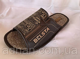 Тапочки чоловічі, БЕЛСТА, відкриті, 6 пар в упаковці, Україна/ купити тапочки оптом