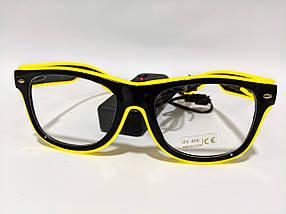 Светящиеся неоновые очки для вечеринок желтые