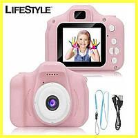 Детская Фотокамера Sonmax c 2.0 дисплеем и с функцией видео Розовая, фото 1