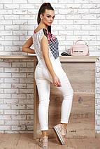 Укороченная клетчатая блуза с цветами (0818-0819 svt), фото 3