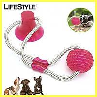 Іграшка для собак на присосці Dog toy rope PULL / Іграшка для домашніх тварин