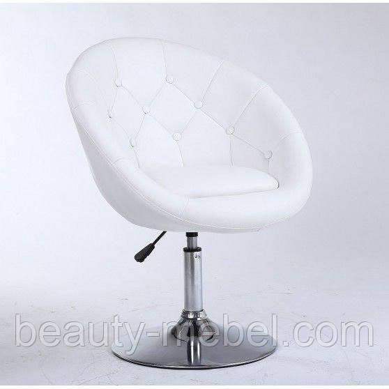 Парикмахерское кресло HC8516 белое