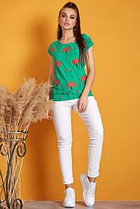 Женская футболка с гипюровой спинкой (0828 svt)