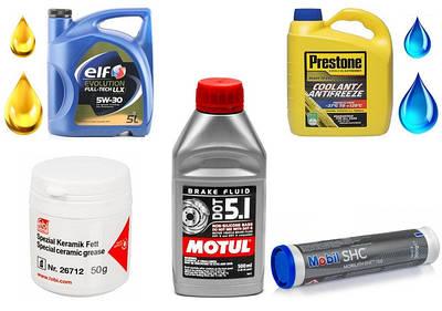 Технические жидкости (масло / антифриз / DOT)