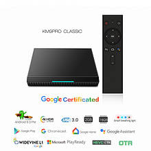 MECOOL KM9 Pro 4/32Gb Android TV 9.0 голосової пульт Google Certification Smart TV Box