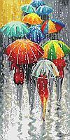 Радужные зонтики  Схема полной вышивки бисером