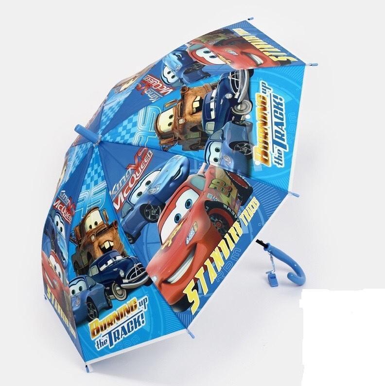 Детский зонтик трость Тачки зонт для мальчиков механический Синий