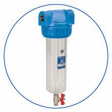 """Корпус фильтра 10"""" с лат. Резьбой 3/4"""" и спускным клапаном Aquafilter FHPR34-3VS"""
