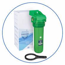 """Корпус фильтра 10"""" антибактериальный, резьба 1/2"""", 6 бар + ключ и кронштейн Aquafilter FHPR12-3_R-AB"""
