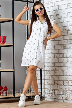 Женское летнее платье с коротким рукавом (0845 svt), фото 2