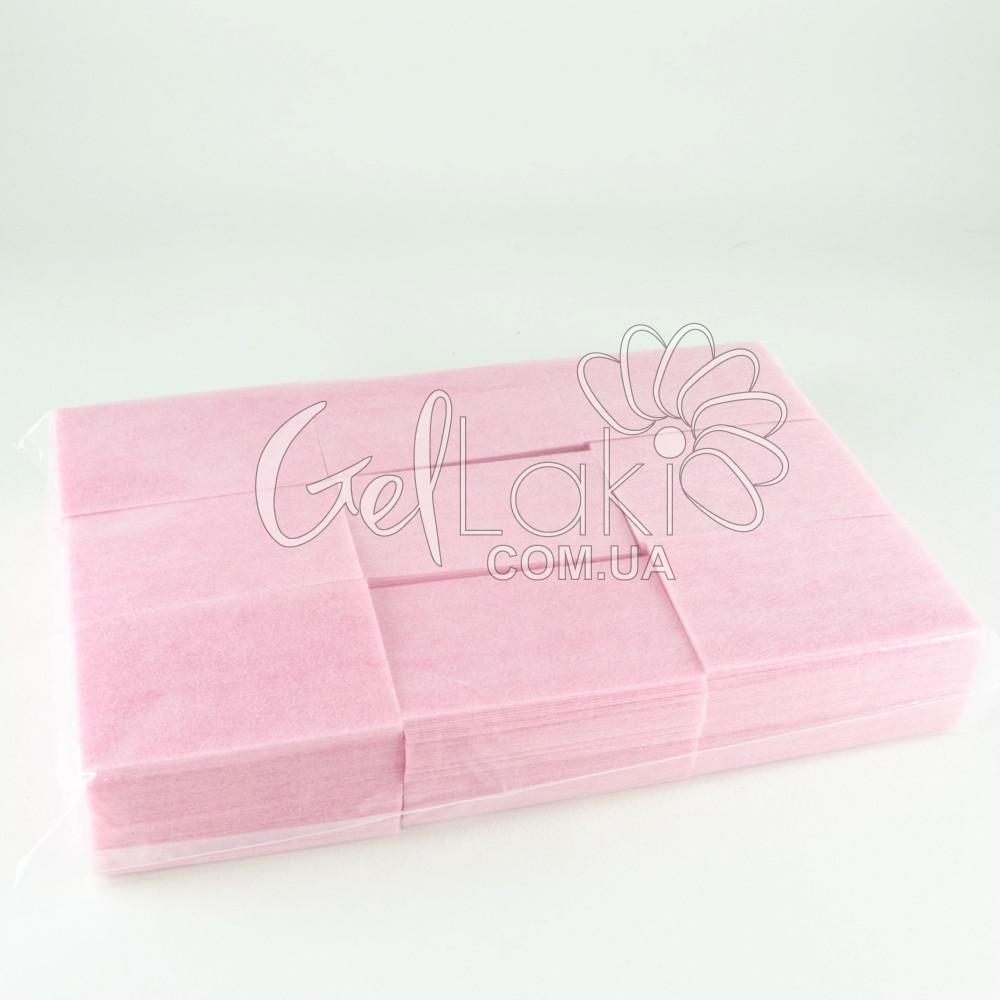Безворсовые салфетки 1000 шт/упак. (ПЛОТНЫЕ), розовые