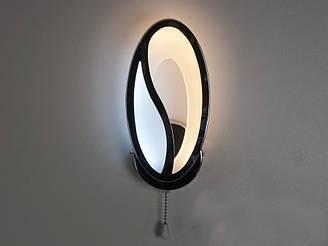 Настінний LED-світильник колір чорний хром 16W Diasha&8090/1BHR