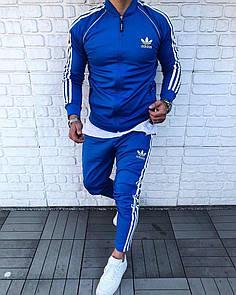 Спортивный мужской костюм Adidas 03,Синий