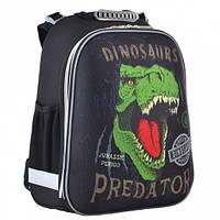 Рюкзак школьный каркасный 1 Вересня Dinosaurs (ортопедический рюкзак, ранец для школьников 6-10 лет)