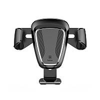 Автодержатель Baseus Gravity Car Mount Black для смартфона вращение на 360 градусов мин 63 мм maх 88 мм