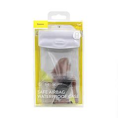 """Водонепроницаемый чехол для смартфона 7"""" Baseus Safe Airbag Waterproof Case White для подводной съемки"""