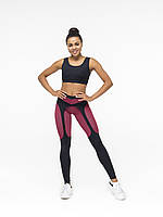 Женские спортивные лосины леггинсы со вставками Red Print для спортзала и фитнеса